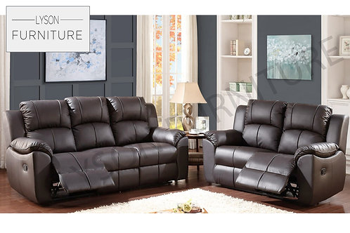 GEORGE Recliner 3+2 Sofa Set - Faux Leather