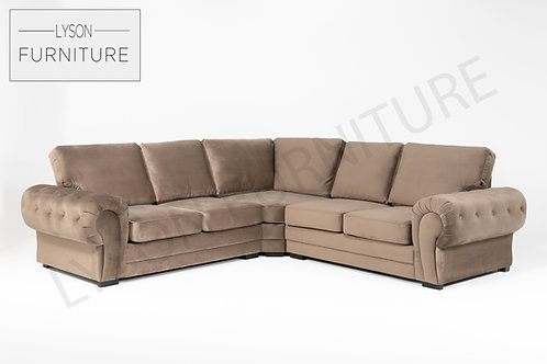 VICTORIA NEW Corner Sofa - Full Back - Fabric
