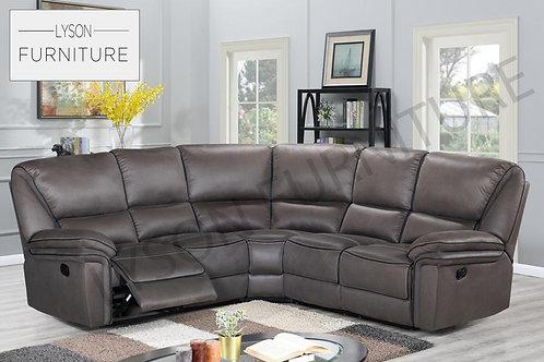 BERNARD Recliner Corner Sofa - Faux Leather