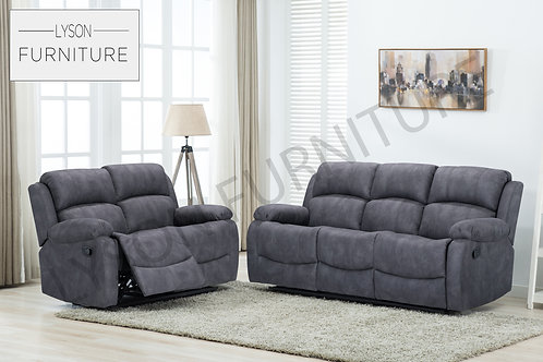 AGNES Recliner 3+2 Sofa Set - Fabric