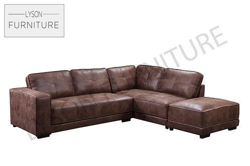 CAROLYN Corner Sofa - Full Back - Faux Leather
