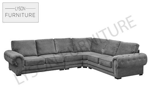 VICTORIA EXTRA EXTRA LARGE Corner Sofa - Full Back - Fabric