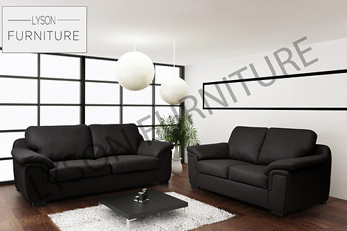 Amelia 3+2 Sofa Set - Real Leather