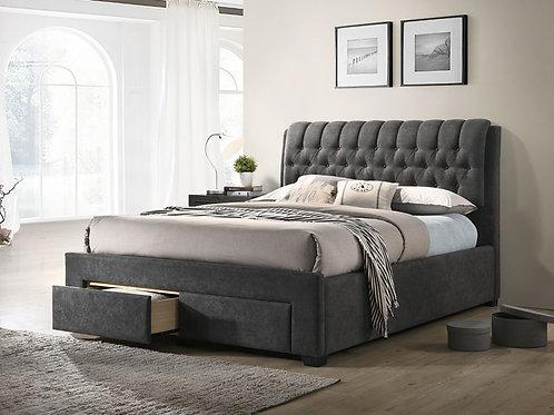 Lovton 2 Draw Bed Dark Grey