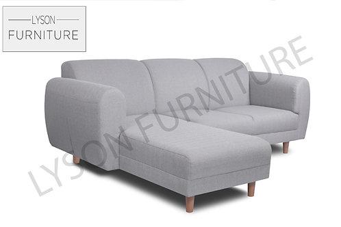 EDNA Corner Sofa I Sofa Set - Full Back - Fabric