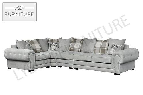 VICTORIA EXTRA LARGE Corner Sofa - Scatter Cushion - Fabric