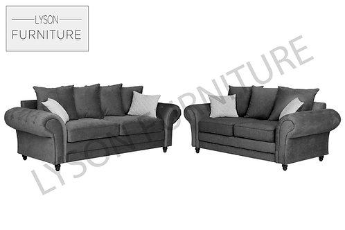 ROSSE 3+2 Sofa Set - Scatter Cushion  - Fabric