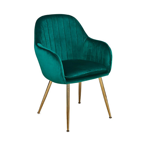 Lara Dining Chair - Forest Green Set of 2