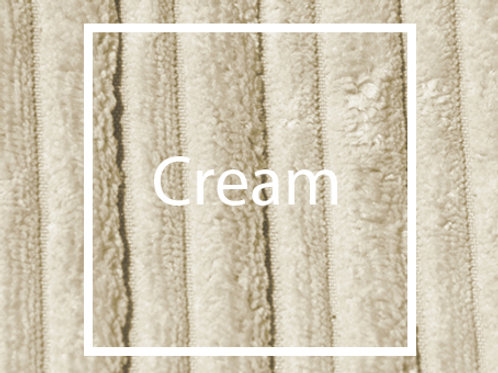 Cream Cord Fabric Sample