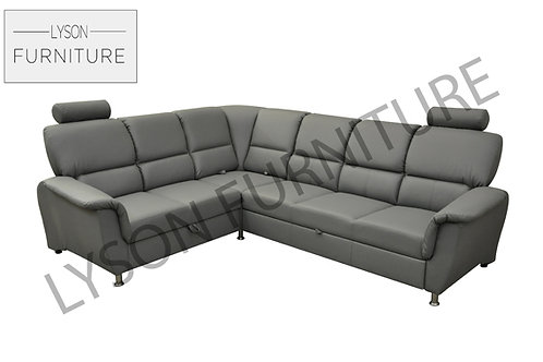 STANLEY Corner Sofa Bed - Full Back - Faux Leather