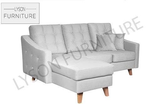 ANDREA Corner Sofa - Full Back - Fabric