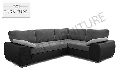 EVAN Corner Sofa Bed - Full Back - Fabric