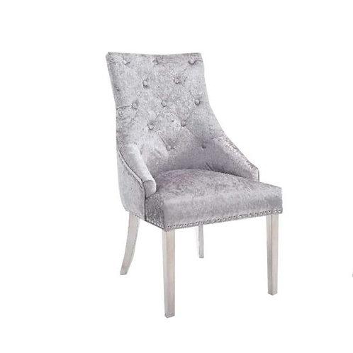 Dining Knocker Chair with studded detailing Velvet
