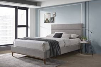 Hamilton Fabric Bed Light Grey