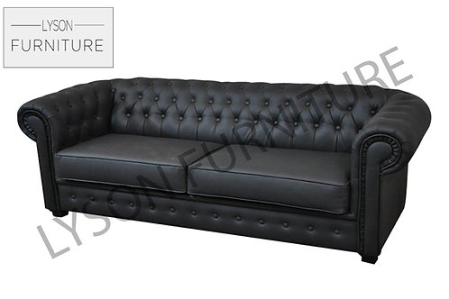 JULIETTE 3 or 2 Seater Sofa Bed - Full Back - Faux Leather