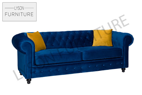 HAROLD 3 or 2 Seater Sofa Bed - Full Back - Fabric