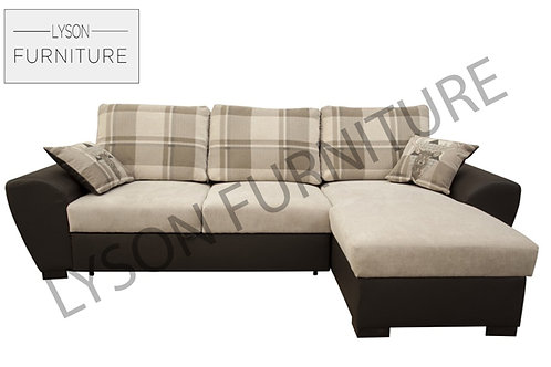 GARY NEW Corner Sofa Bed - Full Back - Fabric