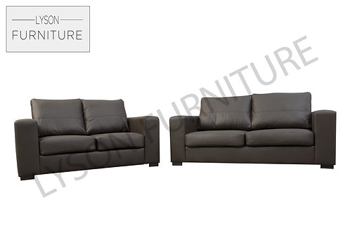 WALTER 3+2 Sofa Set - Full Back - Faux Leather