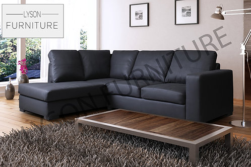 WALTER Corner Sofa - Full Back - Faux Leather