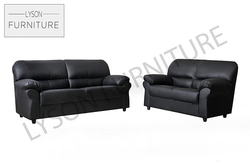 CRYSTAL 3+2 Sofa Set - Full Back - Faux Leather
