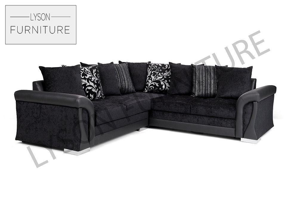 NEW Vigo Corner Sofa BED - Black Fabric