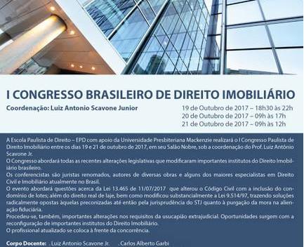 I Congresso Brasileiro de Direito Imobiliário