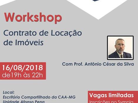 Workshop sobre Contrato de Locação de Imóveis realizado em 16/08/2018. Clique na imagem para ter ace