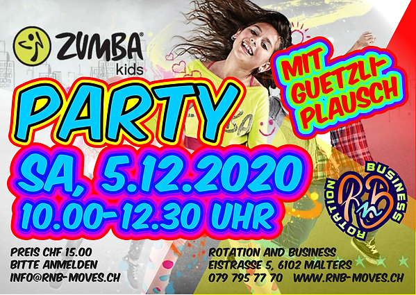 ZUMBA_KIDS_ZUMBA PARTY_MALTERS_RNB MOVES