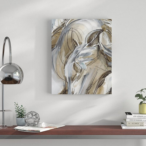 'Horse Abstraction I' Print on Wrapped Canvas