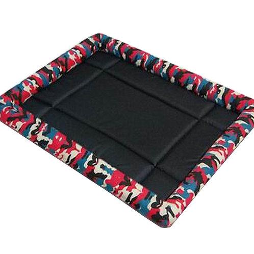 [Camo Red] Soft Pet Beds Pet Mat Pet Crate Pads Cozy Beds For Dog/Cat