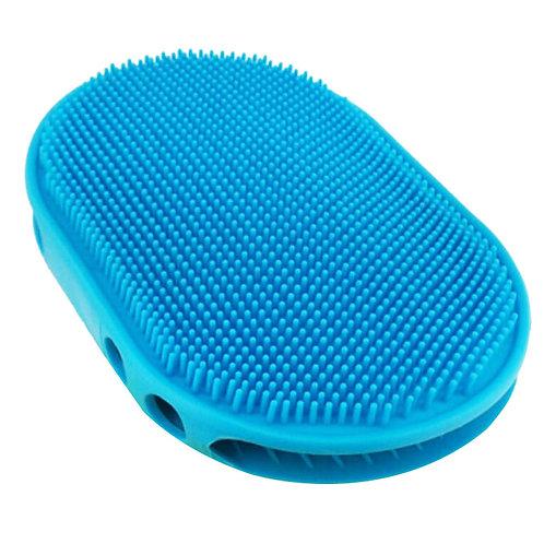 1 Pcs Pet Bath Accessories Cats& Dogs Bath Brush Massage Comb Gloves Blue