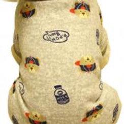 Warmth Pet Dog Clothes Winter Dress Fleece Garment Of Four Feet Gray