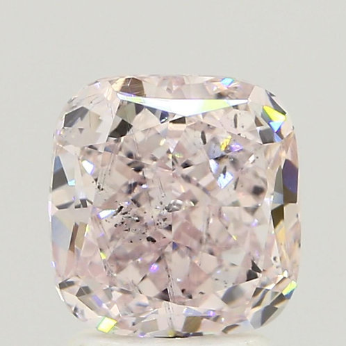 2.17 Carat Cushion Loose Diamond, Fancy Light Purplish Pink, SI2, Good,
