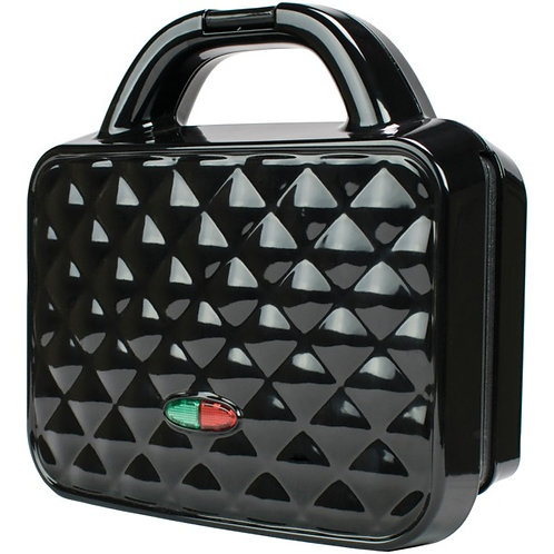 Brentwood Appliances Couture Purse Nonstick Dual Waffle Maker (Black)