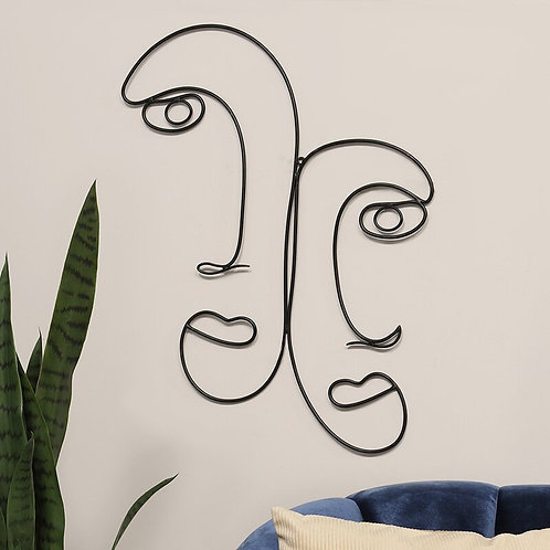 Outline Faces Wall Décor