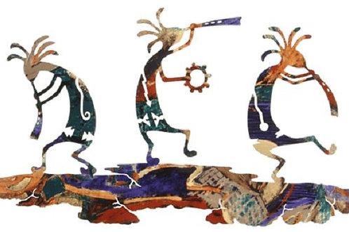Dancing Kokopellis By Neil Rose - Southwest Laser Cut Metal Wall Art