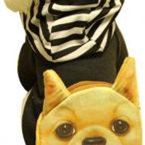 Warmth Pet Dog Clothes Winter Dress Fashion Pet Dog Clothing Black