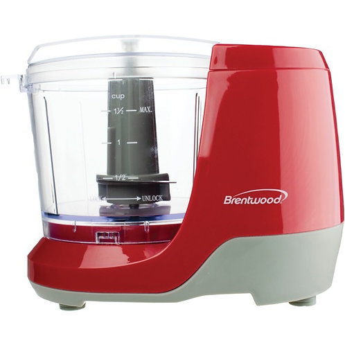 Brentwood Appliances 1.5-Cup Mini Food Chopper (Red)