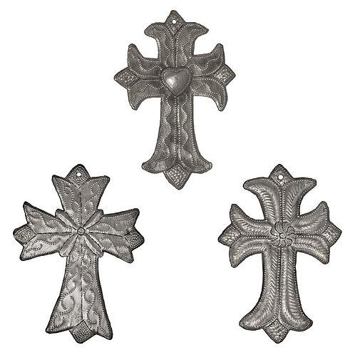3 Metal Crosses Wall Décor