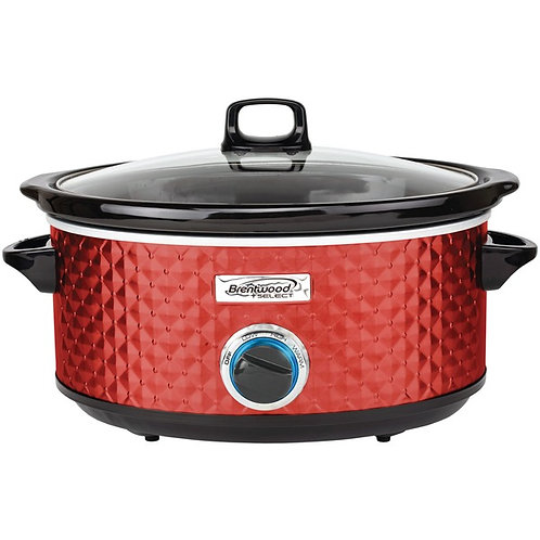 Brentwood Appliances 7-Quart Slow Cooker (Red)