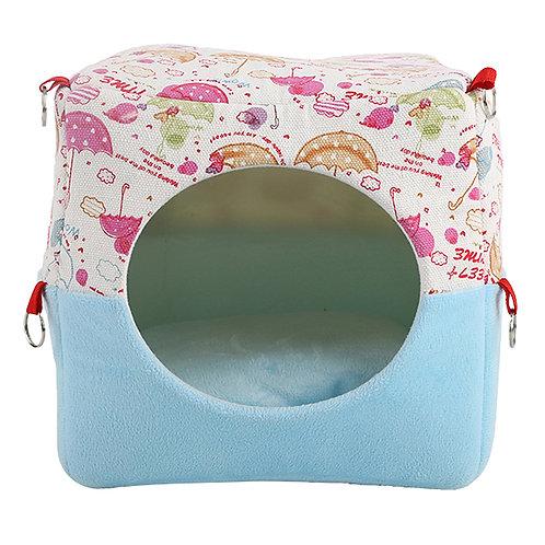 Hamster Bed Guinea Pig Bed Rabbit Cotton Nest House, Random Pattern-2