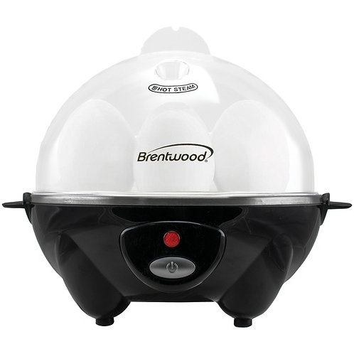 Brentwood Appliances Electric Egg Cooker With Auto Shutoff (Black)