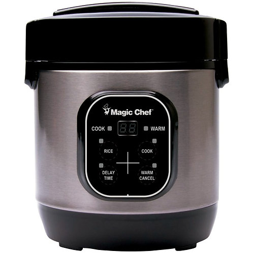 Magic Chef 3-Cup Stainless Steel Rice Cooker