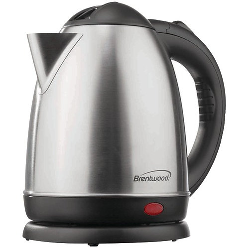 Brentwood 1.5-Liter Stainless Steel Electric Cordless Tea Kettle (Brushed Stainl