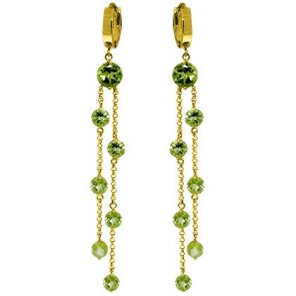 9.02 Carat 14K Solid Yellow Gold Chandelier Earrings Peridot