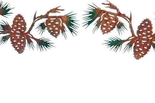 Pine Cone Branches By Neil Rose - Nature Metal Wall Art