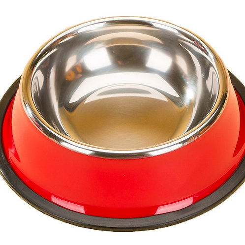 Dog Bowl Pet Supplies Cat Bowl Stainless Steel Dog Bowls Cat Food Bowls Red