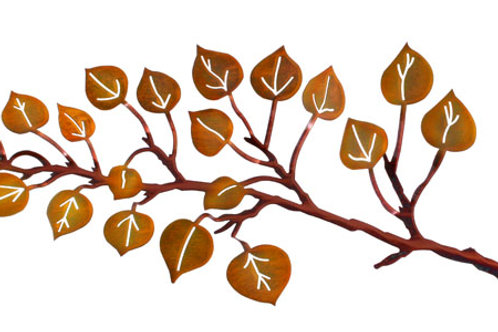 Aspen Leaves By Neil Rose - Nature Metal Wall Art