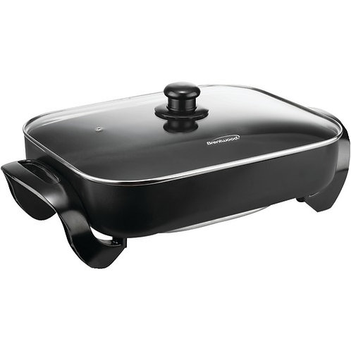 """Brentwood Electric Skillet With Glass Lid (1,400W; 16"""")"""