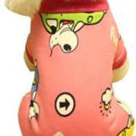 Warmth Pet Dog Clothes Winter Dress Fleece Garment Of Four Feet Rose Red